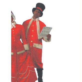 Manteau de Père Noël Carol sans bonnet ni capuche