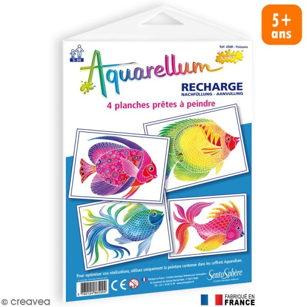 Recharge Aquarellum Junior Poissons x 4 dessins - Photo n°1