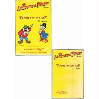 Jeu de 17 cartes tour de magie la bande a picsou license Disney
