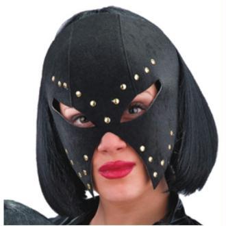 Masque noir à clous dorés en panne de velours