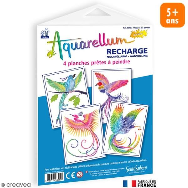 Recharge Aquarellum Junior Oiseau du Paradis x 4 dessins - Photo n°1