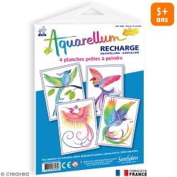 Recharge Aquarellum Junior Oiseau du Paradis x 4 dessins