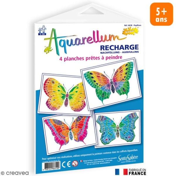 Recharge Aquarellum Junior Papillons x 4 dessins - Photo n°1
