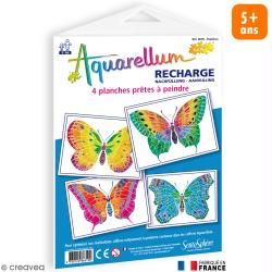 Recharge Aquarellum Junior Papillons x 4 dessins