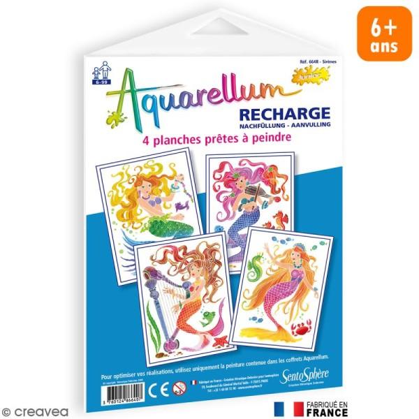 Recharge Aquarellum Junior Sirènes x 4 dessins - Photo n°1