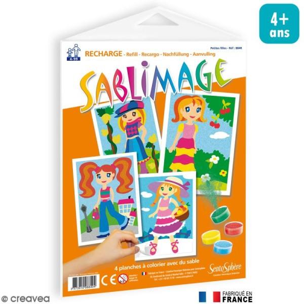 Recharge Sablimage Petites filles x 4 dessins - Photo n°1