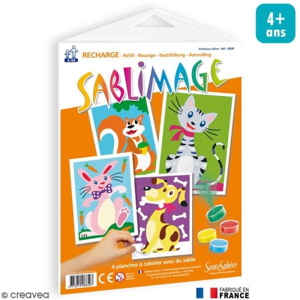 Recharge Sablimage Animaux câlins x 4 dessins - Photo n°1