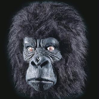 Masque de gorille avec cheveux modèle souple en latex