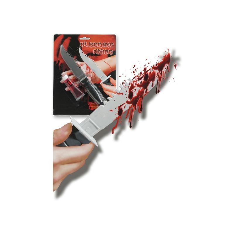 Couteau poignard et faux sang armes factices adulte for Acheter couteaux cuisine