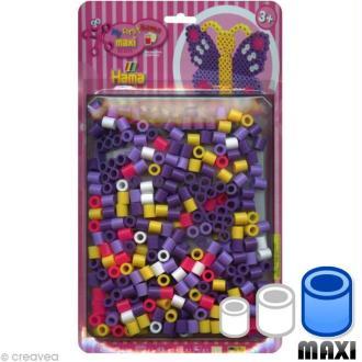 Perles Hama Maxi diam. 1 cm - Assort. Papillon x 250