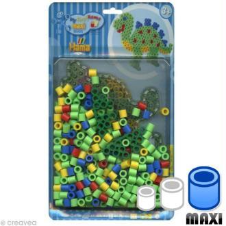 Perles Hama Maxi diam. 1 cm - Assort. Dinosaure x 250