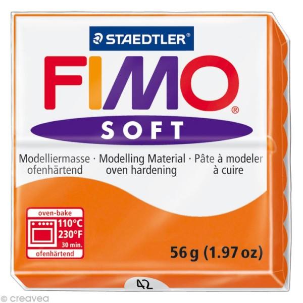 Pâte Fimo soft Orange mandarine 42 - 56 gr - Photo n°1