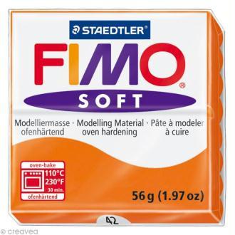 Pâte Fimo soft Orange mandarine 42 - 56 gr