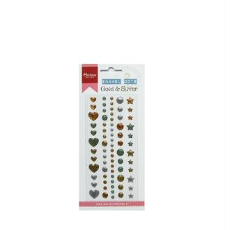 Stickers 3D - Emanel Dots Marianne Design - Gold & Silver - 72 pcs