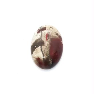 Cabochon Ovale 25x18mm JASPE ROUGE