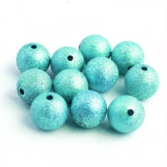 10x Perles Stardust 8mm BLEU TURQUOISE