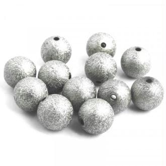 10x Perles Stardust 8mm ARGENTE