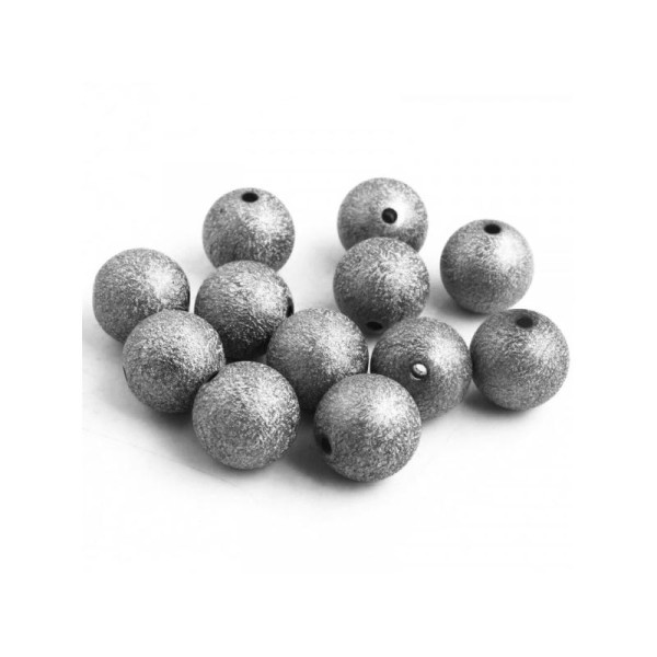 10x Perles Stardust 8mm GUNMETAL - Photo n°1
