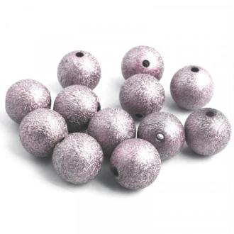 10x Perles Stardust 8mm GRIS ROSE