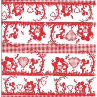 4 Mouchoirs en papier Histoire d'amour