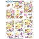 Feuille 3D à découper A4 Fleurs & Papillons - Photo n°1