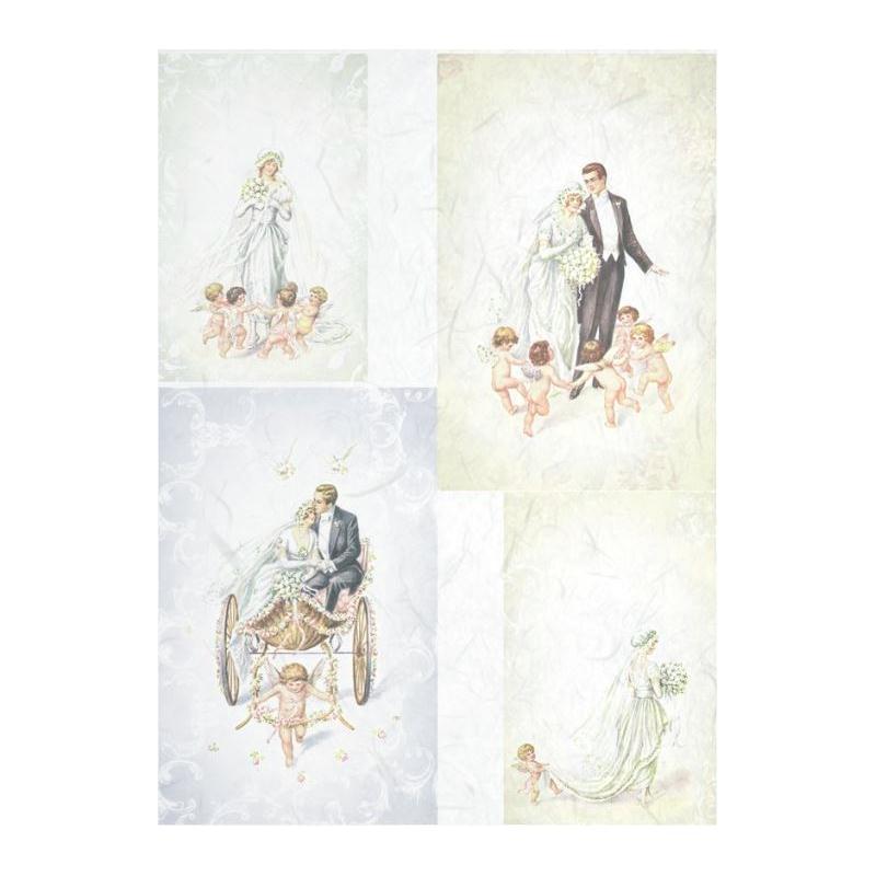 1 feuille de papier de riz 21 x 28 cm d 233 coupage collage mariage 655 papier de d 233 coupage creavea