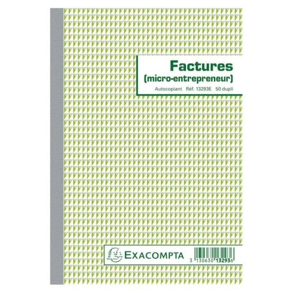 Manifold Factures micro-entrepreneur 14,8x21cm - Dupli - Photo n°1