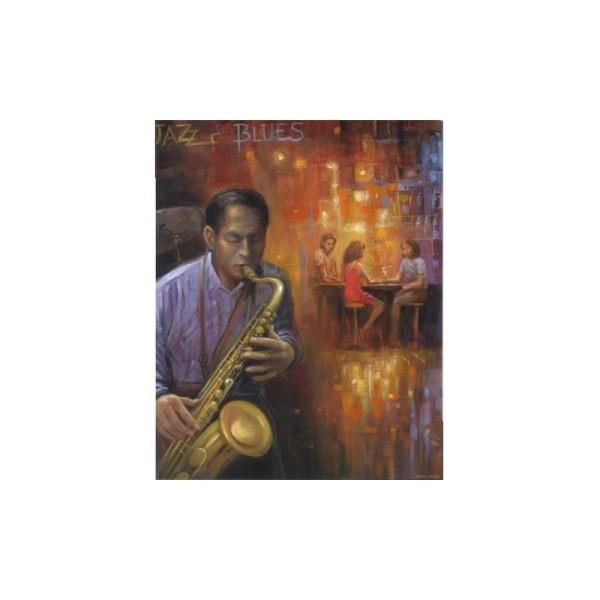 Image 3D - 0920103 - 40x50 - saxophoniste - Photo n°1