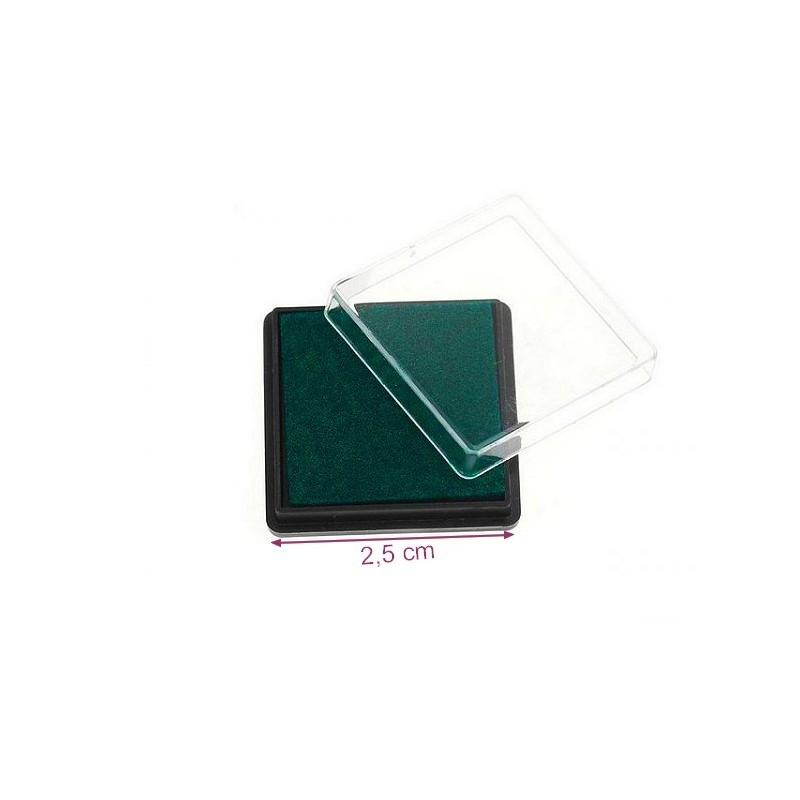 Mini encreur vert fonc 2 5 x 2 5 cm pigment intense for Ambiance et tradition cuisine