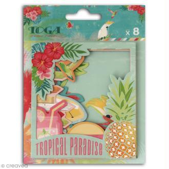 Cadre polaroid - Tropical Paradise - 8,8 x 10,7 cm - 8 pcs