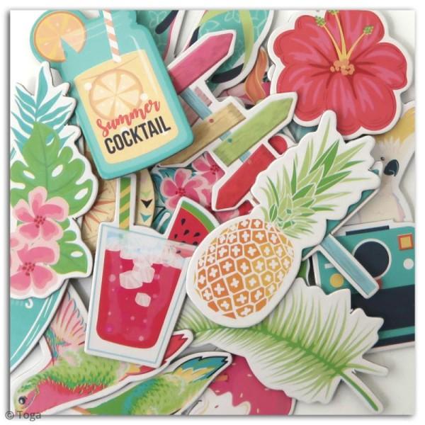 Chipboard Carton - Tropical Paradise - 20 pcs - Photo n°3