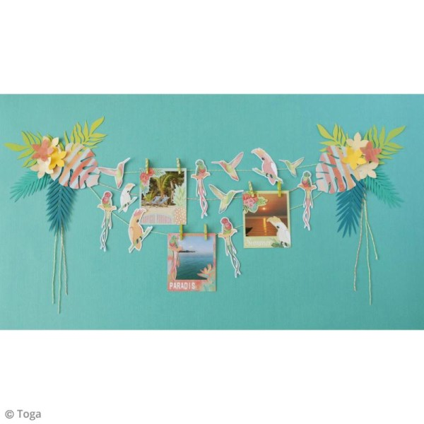 Chipboard Carton - Tropical Paradise - 20 pcs - Photo n°5