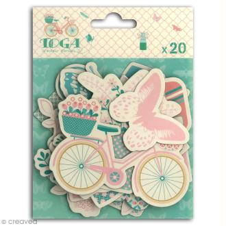Chipboard Carton - Paulette - 20 pcs