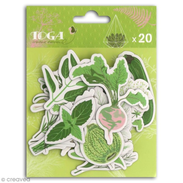 Chipboard Carton - Oh my Green - 20 pcs - Photo n°1