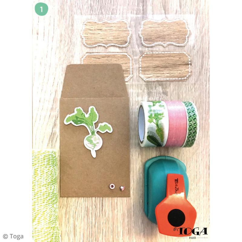 Mini enveloppe Kraft - 7 x 10 cm - 12 pcs - Photo n°4