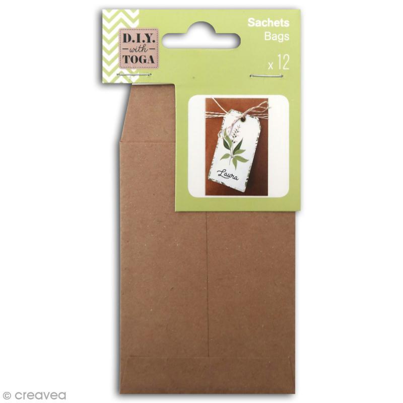 Mini enveloppe Kraft - 7 x 10 cm - 12 pcs - Photo n°1