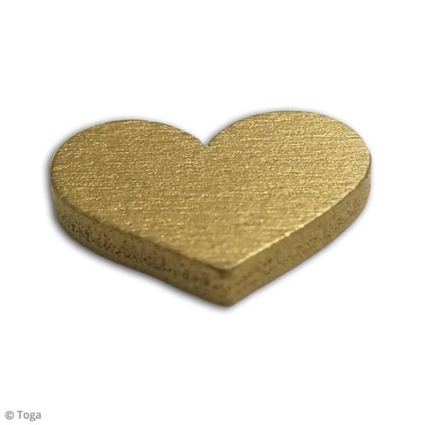 Assortiment de formes en bois - Coeur dorés - 25 pcs - Photo n°3