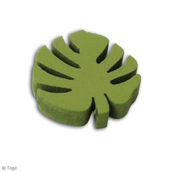 Assortiment de formes en bois - Feuilles tropicales - 25 pcs - Photo n°3