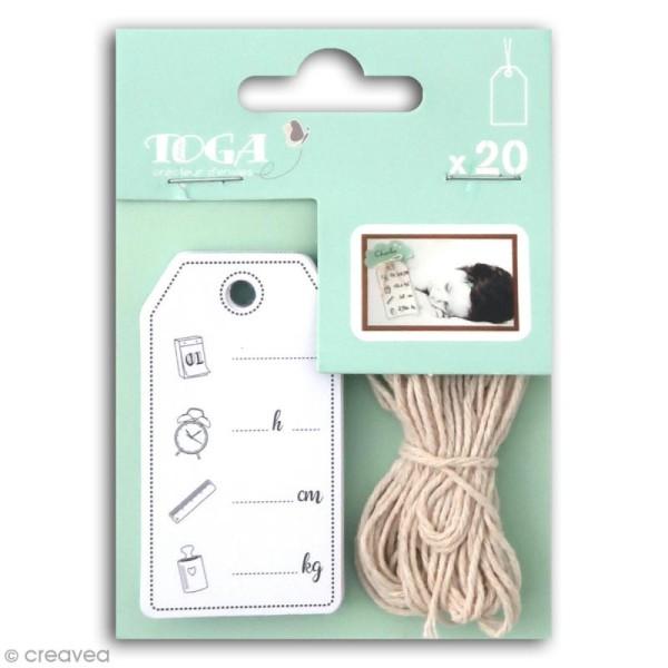 Set étiquettes Toga - Naissance - 20 pcs - Photo n°1