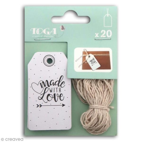 Set étiquettes Toga - Fait avec amour - 20 pcs - Photo n°1