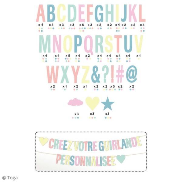 Kit guirlande décorative à message - Pastel - 8 m - Photo n°2
