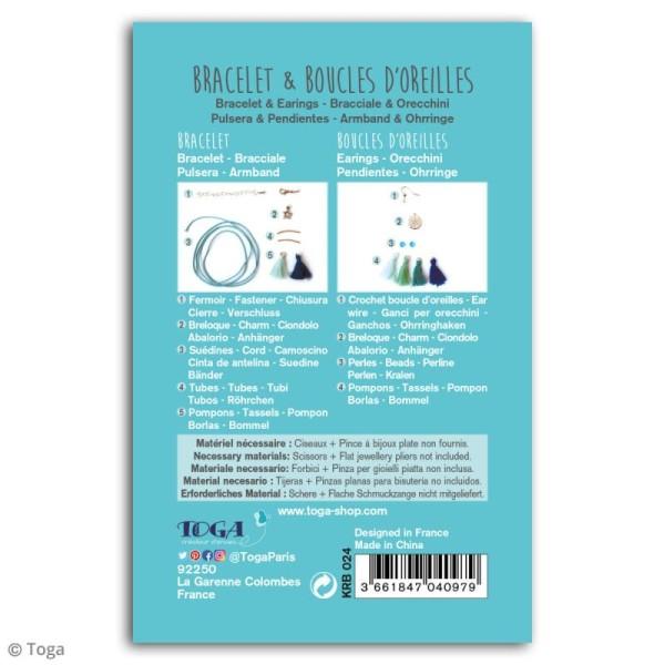 Kit bijou Bracelet et boucles d'oreilles Ice Toga - Pompons - Photo n°2