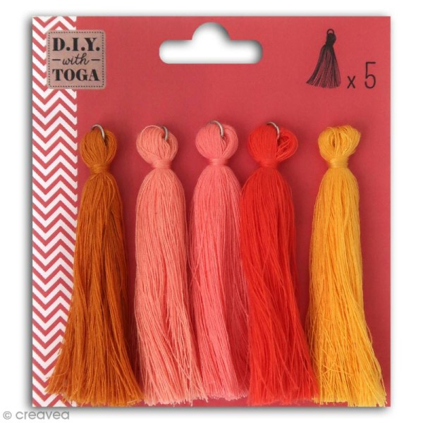 Set de pompons tassels - Juicy - 8 cm - 5 pcs - Photo n°1