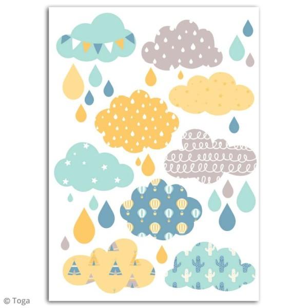 Stickers flex thermocollant - Nuages bleus - Photo n°2