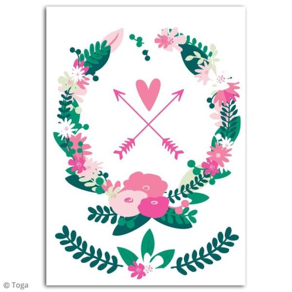Stickers flex thermocollant - Couronne de fleurs - Photo n°2