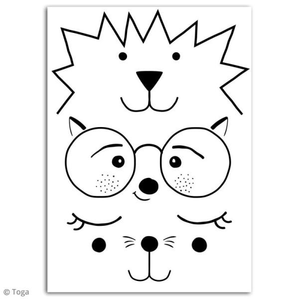 Stickers flex thermocollant - Visages d'animaux - Photo n°2