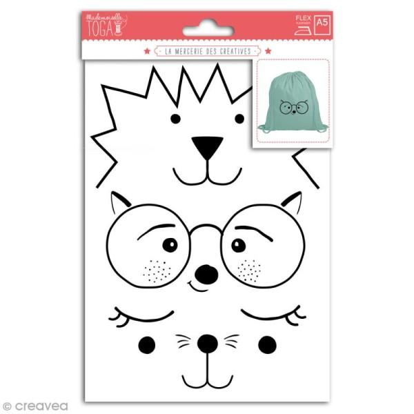 Stickers flex thermocollant - Visages d'animaux - Photo n°1