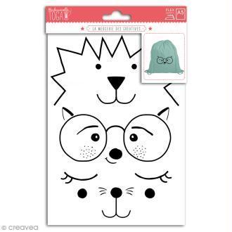 Stickers flex thermocollant - Visages d'animaux