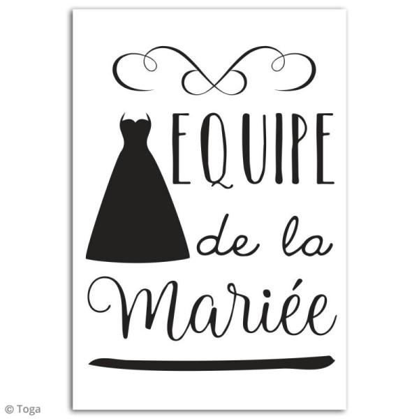 Stickers flex thermocollant - Equipe de la mariée - Photo n°2