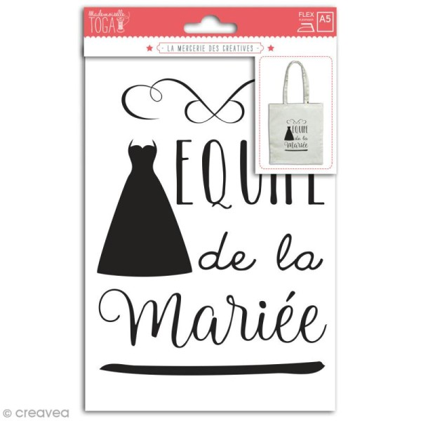Stickers flex thermocollant - Equipe de la mariée - Photo n°1